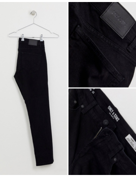 Only &Amp;Amp; Sons Skinny Black Jeans by Only &Amp; Sons
