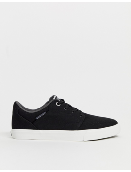 Jack &Amp;Amp; Jones Canvas Skate Sneaker In Black by Jack &Amp; Jones