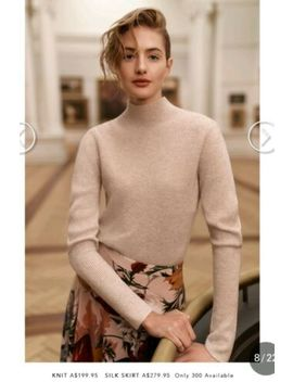 nwot-witchery-limited-edition-knit-cashmere-sweater-jumper-cream-xxs-rrp$199 by witchery