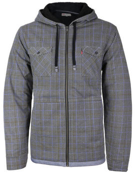 Levi's Men's Soft Sherpa Lined Long Sleeve Flannel Zip Up Hoodie Sweater Jacket by Levi's