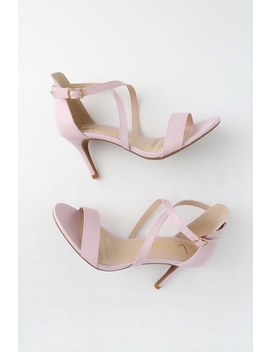 Collins Blush High Heel Sandals by Lulus