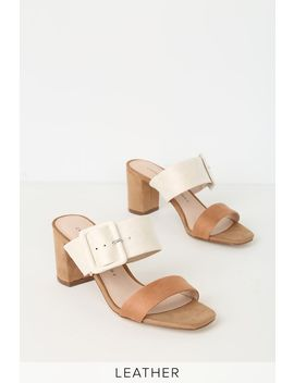 Yippy Cream Multi Suede Leather High Heel Sandals by Chinese Laundry