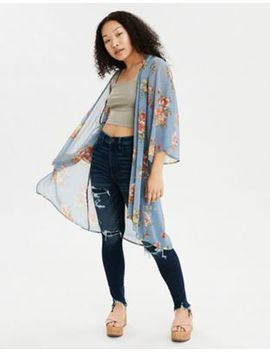 Ae Floral Kimono by American Eagle Outfitters