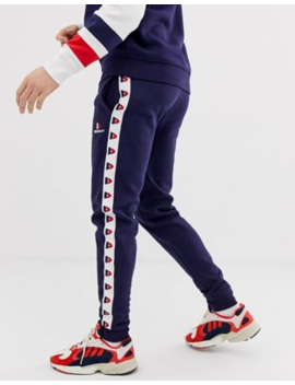 Donnay Taped Jogger In Navy by Joggers