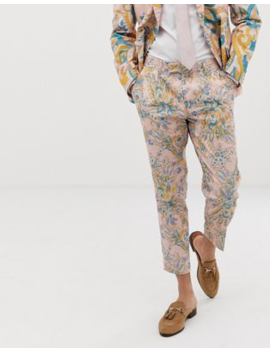 Asos Design Wedding Cigarette Suit Trousers In Paisley Print by Asos Design