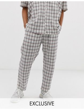Milk It Vintage Relaxed Cropped Trousers In Check Co Ord by Milk It
