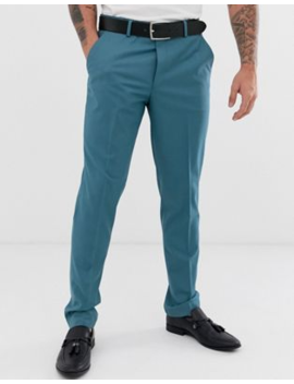 Asos Design Wedding Slim Suit Trousers In Mid Blue by Asos Design