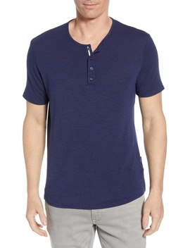 Stretch Regular Fit Henley by Stone Rose
