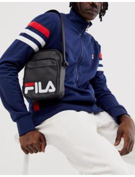 Fila London Flight Bag With Logo In Black by Fila