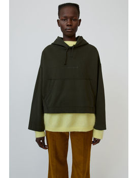 Embossed Logo Hoodie  Forest Green by Acne Studios