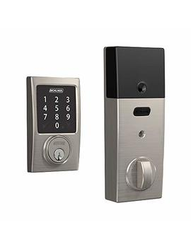 Schlage Connect Smart Deadbolt With Century Trim In Satin Nickel, Zigbee Certified   Be468 Gbak Cen 619 by Schlage
