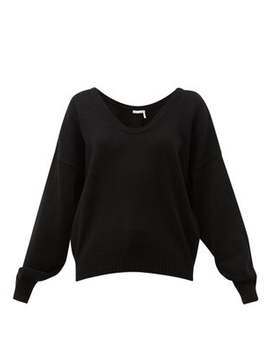 Scoop Neck Wool Blend Sweater by See By Chloé