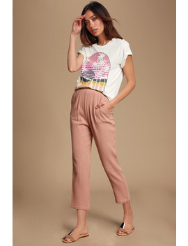 El Sol Mauve Pants by Lulus