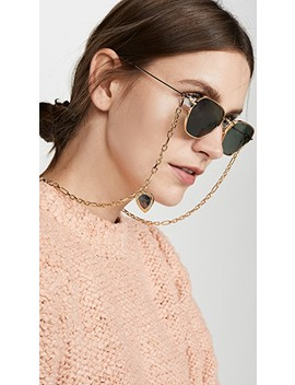 Alessandra Rich X Linda Farrow Sunglasses With Chain by Linda Farrow Luxe