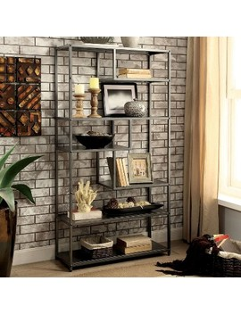 "69"" Dustin 6 Shelf Bookcase Dark Gray   Sun &Amp; Pine by Sun & Pine"