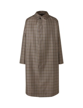 Oversized Checked Virgin Wool Blend Coat by Stella Mc Cartney