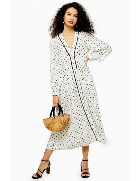 Spot Trim Smock Dress by Topshop