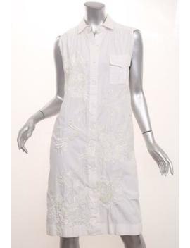 Dries Van Noten Womens Black Cotton Sequin Sleeveless Shirt Shift Dress 38/6 S by Dries Van Noten