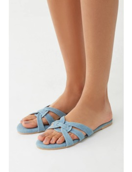 Denim Strappy Sandals by Forever 21