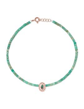 Montauk 9 Karat Rose Gold, Turquoise And Bakelite Anklet by Pascale Monvoisin