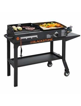 Bstone Easy Assemble Care, Store And Use Tough Durable Ever Reliable Blackstone Griddle & Charcoal Grill Combo 1819   Serve Up Really Tasty Meals With That Distinct Grilled To Perfection Flavor by Bstone