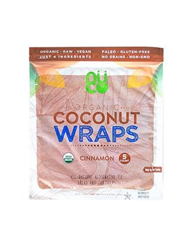 Nuco Certified Organic Paleo Vegan Gluten And Grain Free Cinnamon Coconut Wraps, 5 Count (One Pack Of Five Wraps) by Nuco