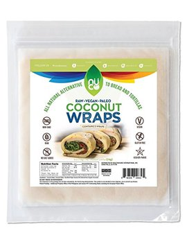 Nuco All Natural Paleo Gluten Free Vegan Coconut Wraps (Non Gmo), 5 Count (One Pack Of Five Wraps) by Nuco