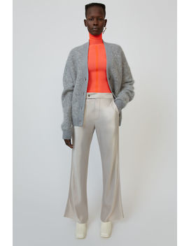 Satin Flared Trousers Pale Grey by Acne Studios
