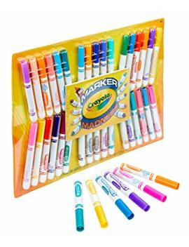 Crayola Marker Madness, 34 Broad Line Markers, Scented &Amp; Neon, Art Set For Kids, Gift by Crayola