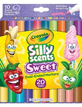 Crayola Silly Scents Dual Ended Markers, Sweet Scented Markers, 10 Count, Gift For Kids, Age 3, 4, 5, 6 by Crayola