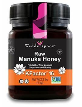 Wedderspoon Raw Premium Manuka Honey K Factor 16, 35.2 Oz, Unpasteurized, by Wedderspoon