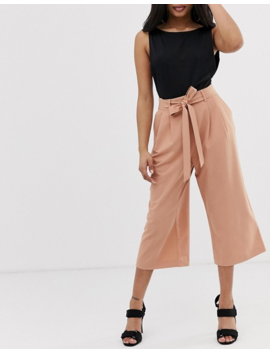 Asos Design Petite Mix &Amp; Match Culottes With Tie Waist by Asos Design