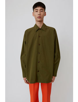 Striped Shirt Khaki Green by Acne Studios