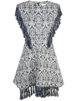 Jacquard Fringed Dress by Chloé