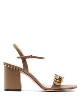 Marmont Gg Leather Sandals by Gucci