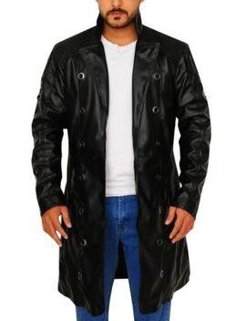 Deus Ex Human Revolution Adam Jensen Leather Trench Coat Jacket by Sp