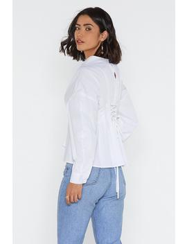 Lace Up To It Pleated Shirt by Nasty Gal