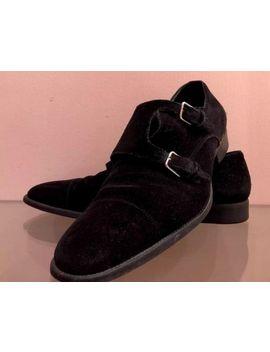 Last Price!!!!Saint Laurent Paris Leather Suede Monk Strap Oxford Dress Shoes 44 by Saint Laurent