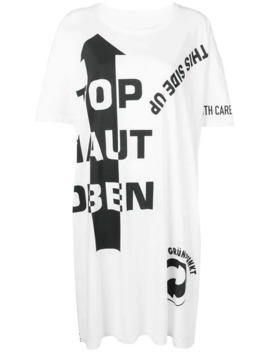 Slogan Detail T Shirt Dress by Maison Margiela