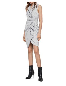 Cancity Ruched Wrap Dress by Allsaints