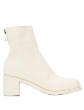 Chunky Heel Ankle Boots by Guidi