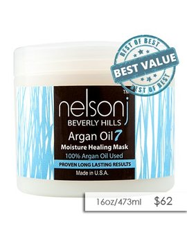 Nelson J Beverly Hills Argan Oil 7 Moisture Healing Mask   Scent: Coconut 16 Oz (Scent: Coconut) by Nelson J Beverly Hills