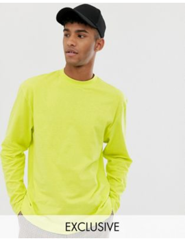 Collusion Long Sleeve T Shirt In Neon Green by Collusion