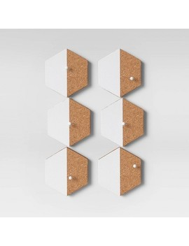 Cork Hexagon Removable Wall Decal Light Brown   Room Essentials by Room Essentials
