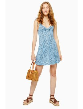 Tall Ditsy Twist Front Mini Sun Dress by Topshop