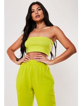 Lime Basic Bandeau Top by Missguided