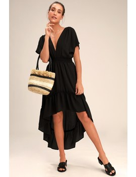 Zarina Black High Low Maxi Dress by Lulus