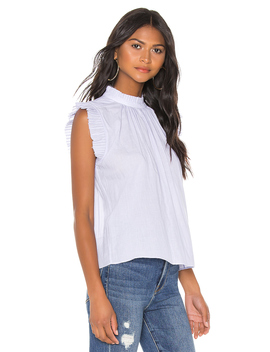 Tipped Sleeveless Top by Frame