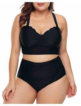 Lalagen Womens Plus Size Strappy High Waist Bikini Swimsuit Bathing Suit M Xxxl by Lalagen