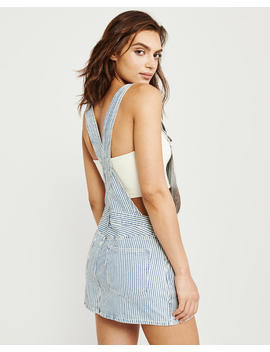 Striped Overall Dress by Abercrombie &Amp; Fitch